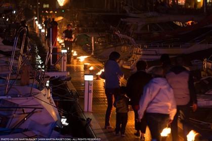 03 05 2013 - Marseille (FRA,13) - Marseille Provence 2013, Historical port Illumination by Company Carabosse