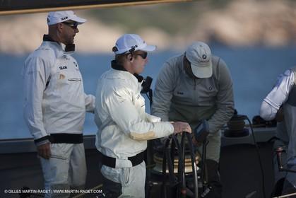 18 05 2010 - La Maddalena (ITA, Sardinia) Louis Vuitton Trophy - BMW ORACLE Racing - Training