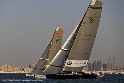 17 11 2010 - Dubai (UAE) - Dubai Louis Vuitton Trophy -  BMW ORACLE Racing Vs  Emirates Team New Zealand