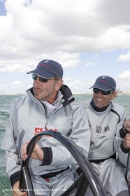 21 04 2008 - Cagliari (ITA)- BMW ORACLE Racing - RC 44 Campionship Tour - RC 44 Cagliari Cup - Training n° 2, Larry Ellison and Russell  Coutts.