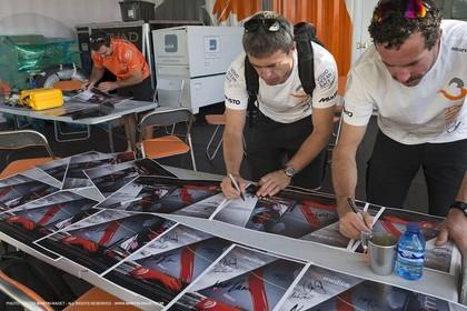 08 10 2014, Alicante (ESP), Volvo Ocean Race 2014-15, Team Alvimedica
