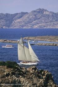 Costa Smeralda (Italia, Sardinia) - Classic yachts in La Maddalena archipelago