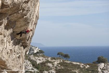 26 03 2009 - Marseille (FRA, 13) - Les Calanques - Sugiton - Les toits cliff