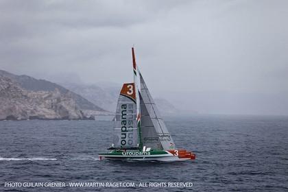 05 14 09 - Marseilles - Mediterranean Record - Groupama 3 - Franck Cammas - G Class - Start from Marseilles to Carthage (Tunisia)