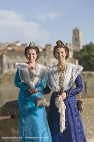 17 juin 2008 - Arles (Fra,13) - two queen if Arles, Caroline Serre et Nathalie Chay