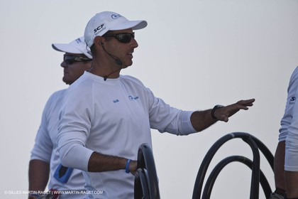 19 11 2010 - Dubai (UAE) - Dubai Louis Vuitton Trophy - Round 2 -  BMW ORACLE Racing Vs Synergy -Francesco Bruni