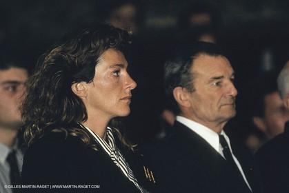 1991, America's cup, présentation de Ville de Paris, Florence Arthaud, Eric Tabarly,