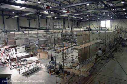 Vannes - Multiplast Boatyard - Orange II construction