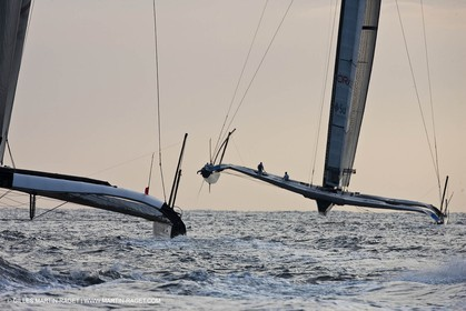 14 02 2010 - Valencia (ESP) - 33rd America's Cup - BMW ORACLE Racing - Race 2