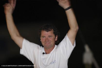05 11 2006 - Pointe à Pitre Guadelupe (FRA) - Route du Rhum 2006 arrival - overall winner Lionel Lemonchois (Gitana 11)