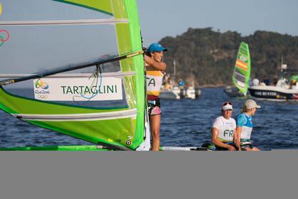 14 08 2016, Rio de Janeiro (BRA), 2016 Olympic Games, Sailing, RSX Women medal race,