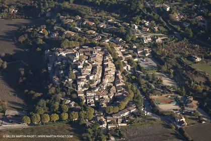 29 10 2012 - Beaumont les Pertuis (FRA,84) - Luberon  seen from above