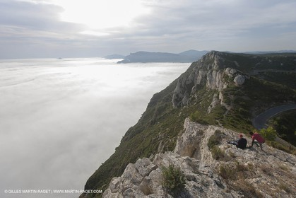 18 07 2012 - Cassis (FRA ) - The Calanques - Unusual foggy conditions