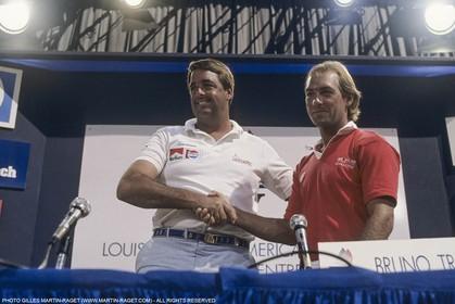 Sailing, Yacht Racing, America's Cup XXVII, San Diego (USA,CA) 1988, Stars & Stripes Vs New Zealand, Dennis Conner, David Barnes