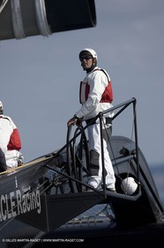 02 09 2008 - Anacortes (WA, USA) - America's Cup - BMW ORACLE Racing - 90 ft trimaran first sea trials
