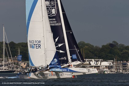 02 07 2012 - Newport (RI) -start of the Krys Ocean Race pre-event sailed between Newport and New York, Race for the Water, Gitana XV