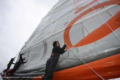 Orange II - Jules Verne Trophy 2005 - Traning Lorient
