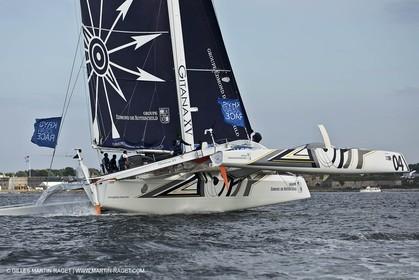 02 07 2012 - Newport (RI) -start of the Krys Ocean Race pre-event sailed between Newport and New York, Gitana XV