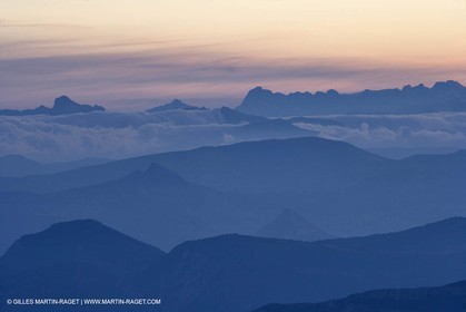 01 09 2007 - Mount Ventoux summit - view toward north and east with Haute Provence and south Alps (Oisans chain)