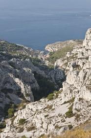 10 09 2009 - Marseille (FRA, 13) - Les Calanques - Massif de Marseilleveyre- Vallon de Mougranier -Vallonl Saint Michel - Callelongue