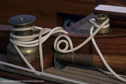 Classic yachts, deck fitting details