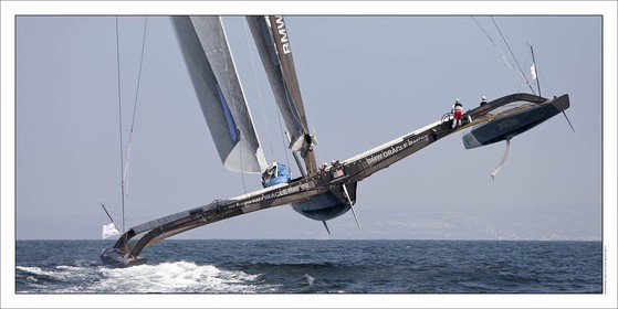 BMW ORACLE Racing flying one hull