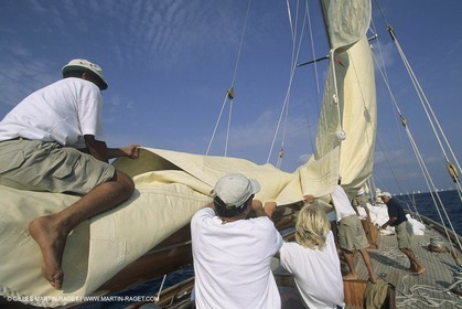 Classic Yachts, J class, onboard Cambria