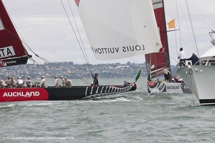 10 02 2009 - Auckland (NZL) -  Louis Vuitton Pacific Series -  Racing Day 10 - Round Robin 2