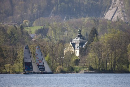 27 04 2010 - Gmunden (Lake Traunsee, Austria) - RC44 World Championship 2010 - BMW ORACLE Racing - Training