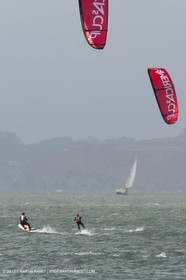 19 07 2013 - San Francisco (USA,CA) - 34th America's Cup - AC Open - Kite Surf contest at Crissie Field