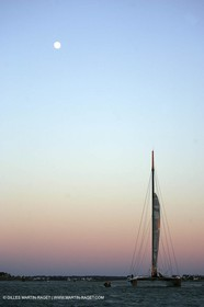 Orange II-2005 Jules Verne Trophy-Start from Lorient-Sunrise