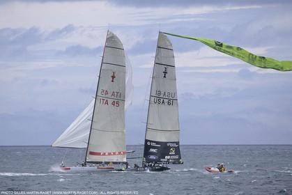 Sailing, Yacht Racing, America's Cup XXX, Auckland (NZL), 2000, Louis Vuitton Cup Final, AMerica True Vs Luna Rossa