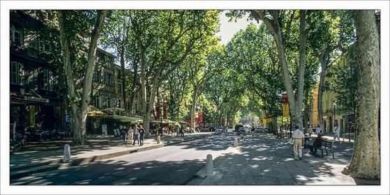 .AIX EN PROVENCE - COURS MIRABEAU...Product: in house made quality print on 8 ultrachome colors Epson ink Jet printer...Available sizes: .. 50 x 100 cm.. 100 x 200 cm..Available papers: .. Standard 250 gr glossy paper print, black streak, white margin, no signature.. Top quality glossy 290 gr. paper, black streak, white margin, checked and signed by the author.. Fine Art print (signed, numbered, stamped, registered) on demand.. Other supports (Canvas, Acrylic, Metal) on demand..Packaging: cylindric reinforced tube..Shipping options: regular mail or Shipping company..Click on the basket icon to select your options and start the online ordering process.
