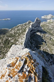 18 04 2009 - Marseille (FRA, 13) - Les Calanques - frop Rocher St Michel summit