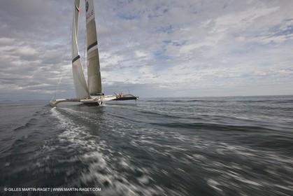 05 09 2008 - Anacortes (WA, USA) - America's Cup - BMW ORACLE Racing - 90 ft trimaran sea trials - Day 4