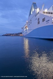 01-31-12   Marseilles (FRA,13) Bastia (FRA,Corsica)   Launching cruising trip and Christening ceremony of PIANA, last ferry ship from La Meridionale