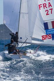 25 04 2016, Hyères (FRA,83), Jeux Olympiques Rio 2016, voile, 470, Sofian Bouvet   Jeremie Mion, SFS Voile