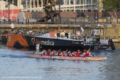 11 11 2014, Capetown (ZAF), Volvo Ocean Race 2014-15, Team Alvimedica, boat back in teh water
