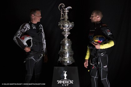 26 08 2013 - San Francisco, CA - Dean Barker and Jimmy Spithill for the America's Cup