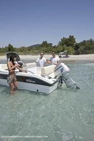 Motor boat mooring