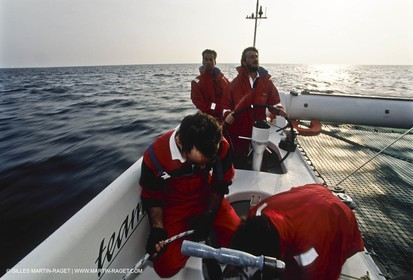 Commodore Explorer - Bruno Peyron - 1993 - Mediteranean Record attempt