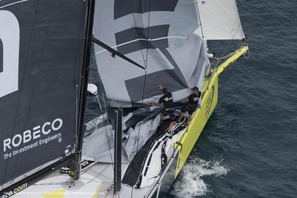 11 10 2014, Alicante (ESP), Volvo Ocean Race 2014-15, Team Alvimedica