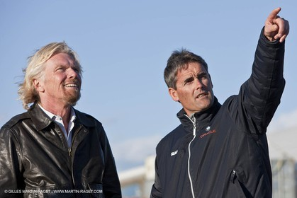 11 02 2010 - Valencia (ESP) - 33rd America's Cup - BMW ORACLE Racing - Day off 2 - Sir Richard Branson - Sir Russell Coutts