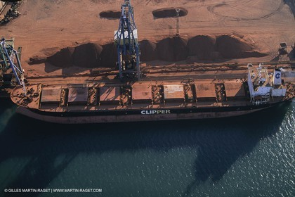 Golfe de Fos (FRA,13) - Marseille-Fos commercial harbour, ore terminal