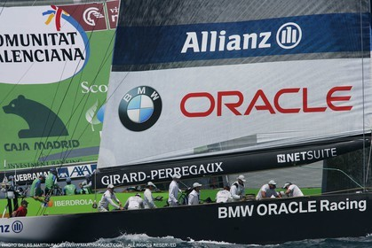 8 05 2007-Valencia (Spain)- 32nd America's Cup - Louis Vuitton Cup - RR2 - Day 10 - BMW ORACLE Racing