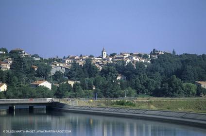 The Durance river next to Saint Auban