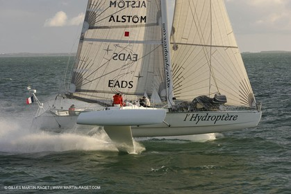 Hydroptère trials, Spring 2005, Quiberon Bay