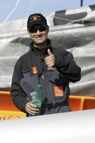 Orange II - 2005 Jules Verne Trophy finish - Brest - On shore - Bruno Peyron