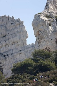 18 04 2009 - Marseille (FRA, 13) - Les Calanques -climbing towards les lames and the rocher des goudes