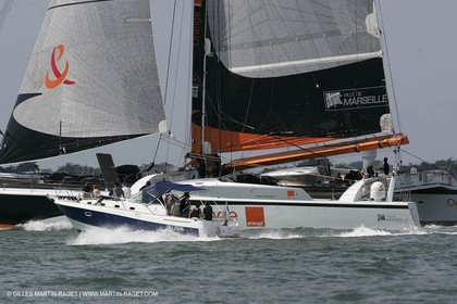 2004 Atlantic record attempt - Orange II back in La Baule